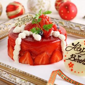 ベリーのプレゼントボックスケーキ