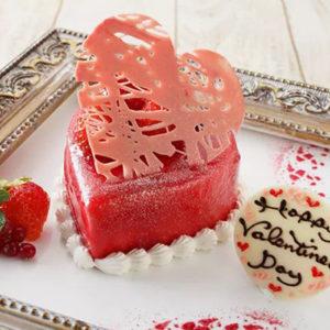 ハートのバレンタインケーキ