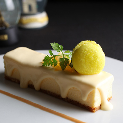 レモンのベイクドチーズケーキ