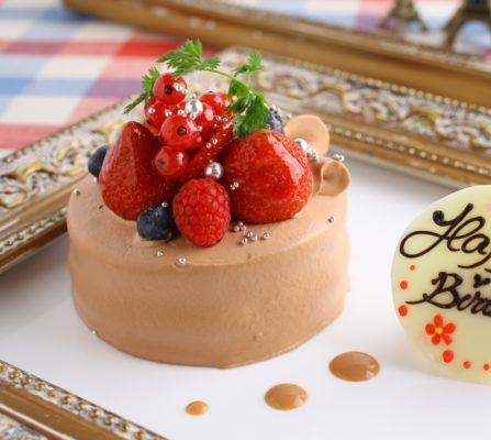 チョコバースデーケーキ