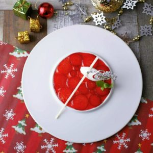クリスマスのいちごブリュレ