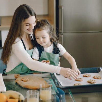 ママとお菓子作り
