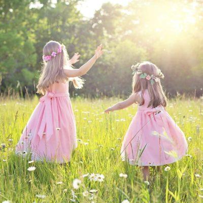 お花と子供